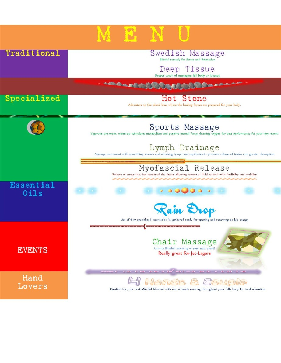 Services of massages